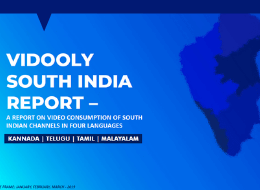 Vidooly South India - Report